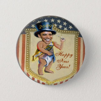 Obama Baby New Year Button