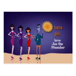 Obama Bahama girls love Joe the Plumber Postcard