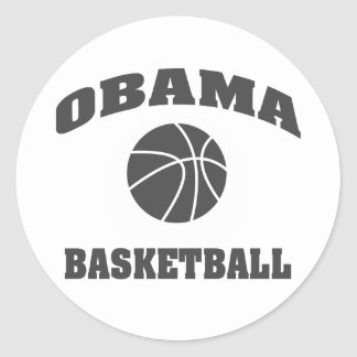 Obama Basketball standard type sticker - grey