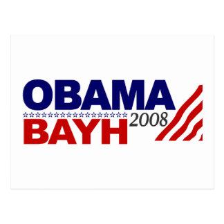 Obama Bayh 2008 Post Card