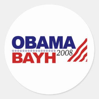 Obama Bayh 2008 Round Sticker