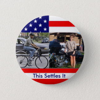 Obama Bicycle Palin Motorcyle 2 Inch Round Button