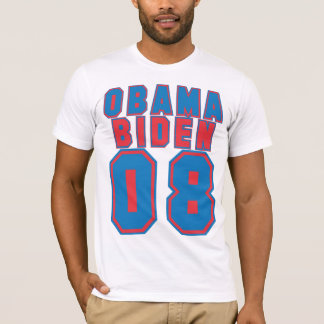 Obama Biden 08, BLUE & Red T-Shirt