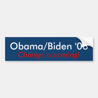 Obama/Biden '08 Bumper Sticker