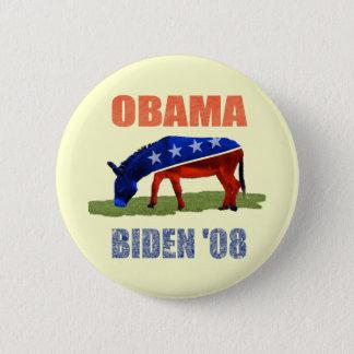 Obama Biden '08 Democratic Button Pin