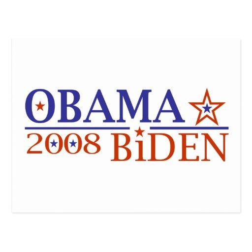 Obama Biden 08 Post Cards