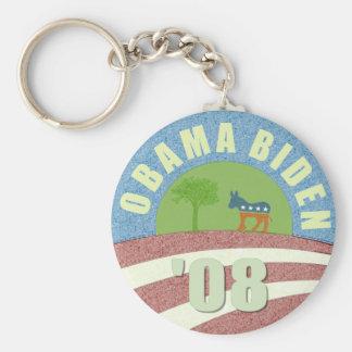 Obama Biden '08 Vintage Logo Keychain