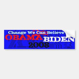 Obama Biden 2008 44 Bumper Sticker