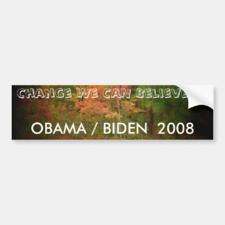 OBAMA / BIDEN  2008 BUMPER STICKER