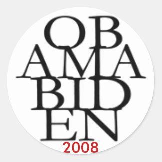 Obama Biden 2008 Round Sticker