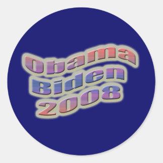 obama biden 2008 round stickers