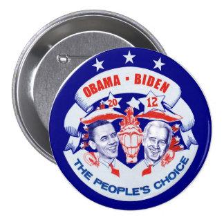 Obama Biden 2012 3 Inch Round Button