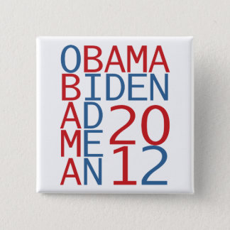 Obama - Biden 2012 cube 2 Inch Square Button