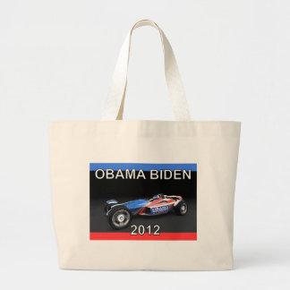 Obama Biden 2012 Racing Car Canvas Bag