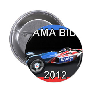 Obama Biden 2012 Racing Car Pinback Button
