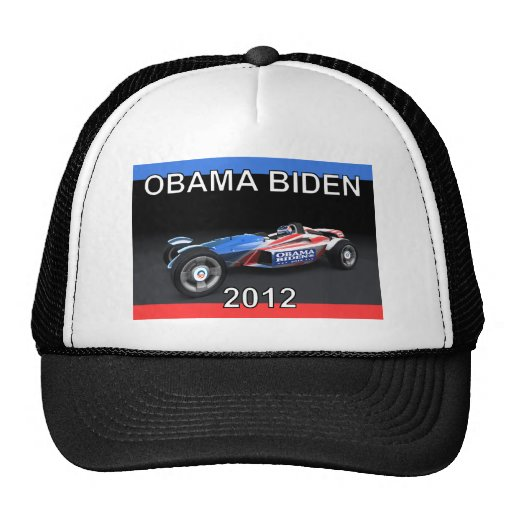 Obama Biden 2012 Racing Car Mesh Hats