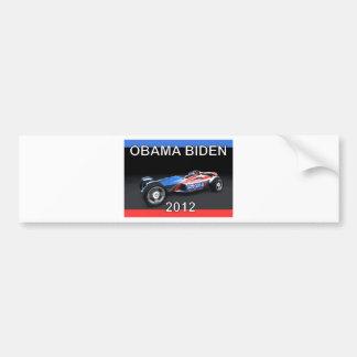 Obama Biden 2012 Racing Car - Hot and Sleek Bumper Sticker