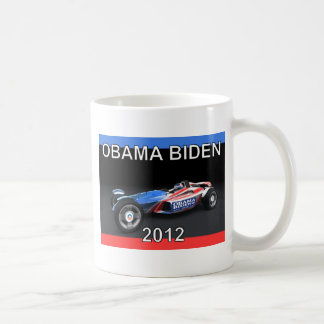 Obama Biden 2012 Racing Car - Hot and Sleek Classic White Coffee Mug
