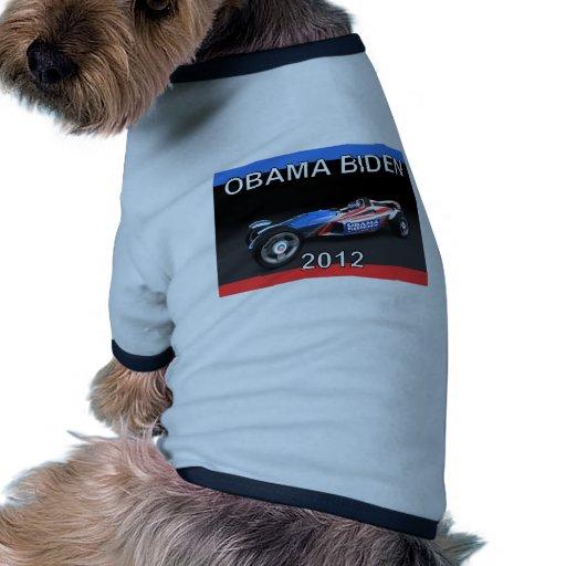Obama Biden 2012 Racing Car - Hot and Sleek Pet Tshirt