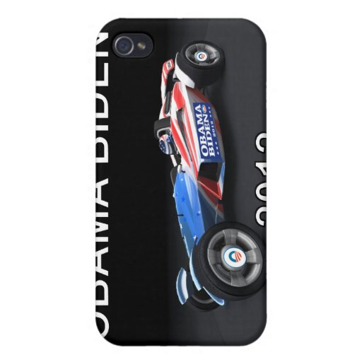 Obama Biden 2012 Racing Car - Hot and Sleek iPhone 4 Cover