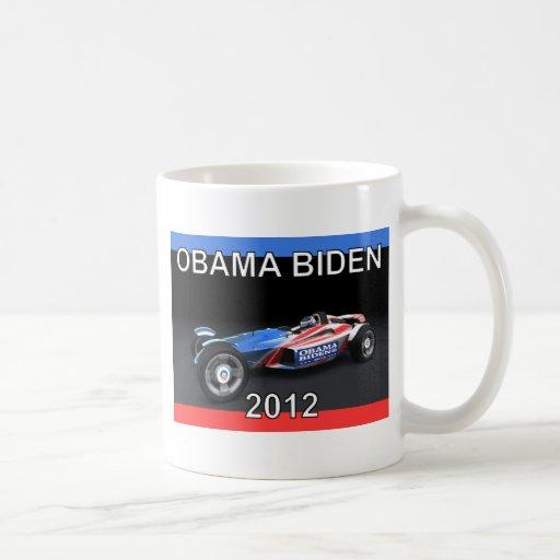 Obama Biden 2012 Racing Car - Hot and Sleek Coffee Mugs