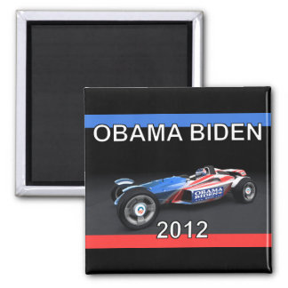 Obama Biden 2012 Racing Car - Hot and Sleek Square Magnet