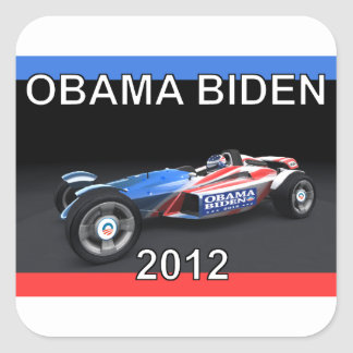 Obama Biden 2012 Racing Car - Hot and Sleek Stickers