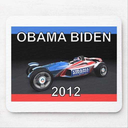 Obama Biden 2012 Racing Car Mousepads