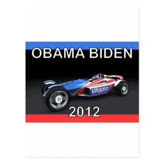 Obama Biden 2012 Racing Car Postcard