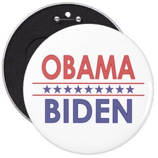 Obama-Biden 6 Inch Round Button