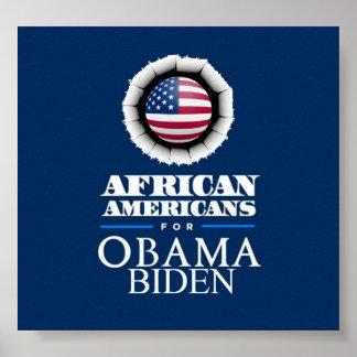 Obama Biden AFRICAN AMERICANS Poster