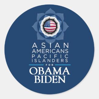 Obama Biden ASIANS Sticker