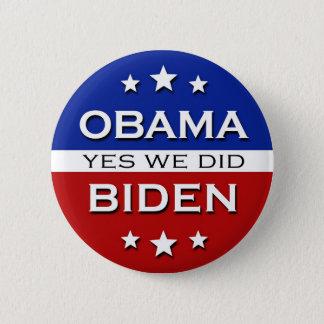 Obama Biden - button