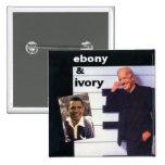 Obama / Biden Ebony Ivory Square Button