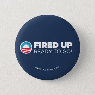 Obama Biden Fired Up Read To Go (Dark Blue) 2 Inch Round Button