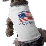 Obama Biden For Peace, For Change Pet Shirt