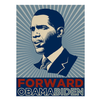 Obama Biden Forward Poster
