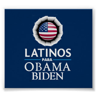 Obama Biden LATINOS Poster