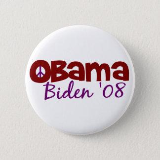 Obama Biden Peace 2008 2 Inch Round Button