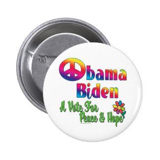 Obama Biden Peace  Hope 2008 copy 2 Inch Round Button