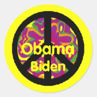 Obama Biden Peace Sticker