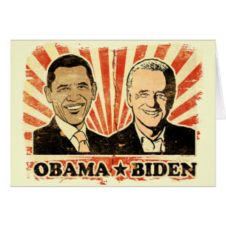 Obama Biden Portraits Greeting Card