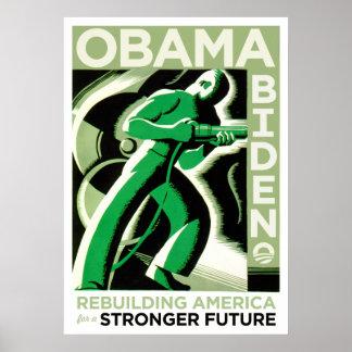 Obama / Biden: Rebuilding America Poster