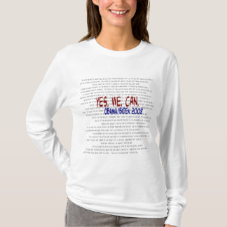 Obama/Biden - Yes We Can Speech T-Shirt
