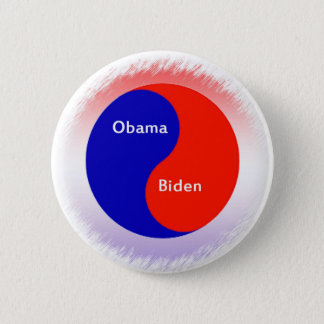 Obama ~ Biden Yin Yang 2 Inch Round Button
