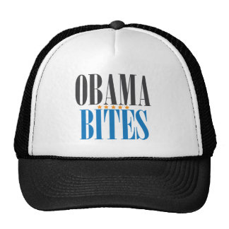 OBAMA BITES TRUCKER HAT