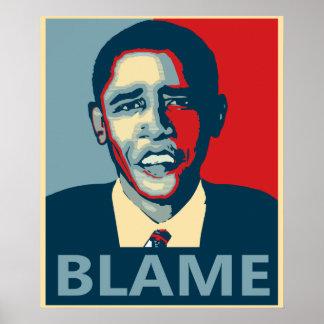 Obama Blame Poster