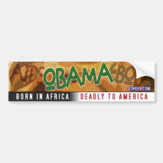 "Obama ""Born in Africa"" Bumper Sticker"