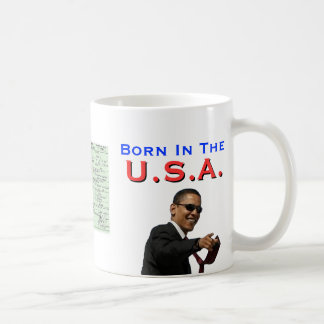 Obama: Born In The U.S.A. Coffee Mug