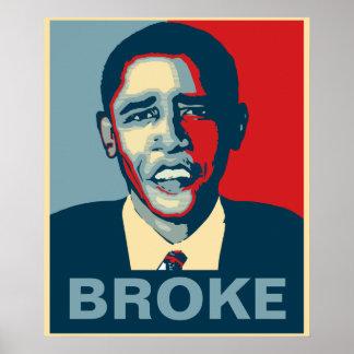 Obama Broke Poster